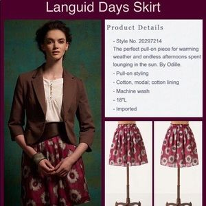 Anthro Languid Days Skirt